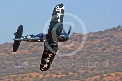 Race Airplane F4U Corsair 00034 Vought F4U Corsair NX240CA at Reno air races by Peter J Mancus