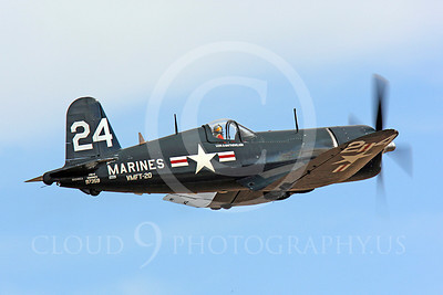 Race Airplane F4U Corsair 00006 Vought F4U Corsair NX240CA at Reno air races by Peter J Mancus
