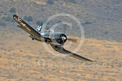 Race Airplane F4U Corsair 00016 Vought F4U Corsair NX240CA at Reno air races by Peter J Mancus