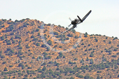 Race Airplane F4U Corsair 00020 Vought F4U Corsair NX240CA at Reno air races by Peter J Mancus