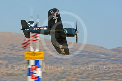 Race Airplane F4U Corsair 00004 Vought F4U Corsair NX240CA at Reno air races by Peter J Mancus