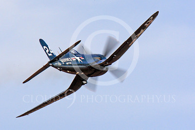 Race Airplane F4U Corsair 00028 Vought F4U Corsair NX240CA at Reno air races by Peter J Mancus