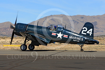 Race Airplane F4U Corsair 00001 Vought F4U Corsair NX240CA at Reno air races by Peter J Mancus