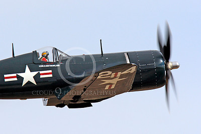 Race Airplane F4U Corsair 00007 Vought F4U Corsair NX240CA at Reno air races by Peter J Mancus