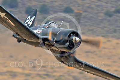 Race Airplane F4U Corsair 00040 Vought F4U Corsair NX240CA at Reno air races by Peter J Mancus