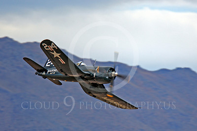 Race Airplane F4U Corsair 00024 Vought F4U Corsair NX240CA at Reno air races by Peter J Mancus