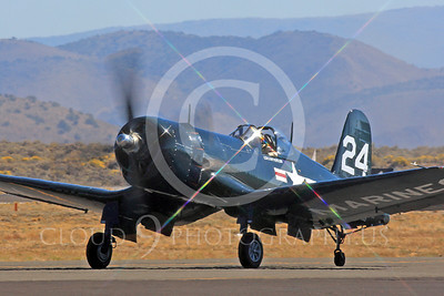 Race Airplane F4U Corsair 00009 Vought F4U Corsair NX240CA at Reno air races by Peter J Mancus