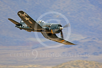 Race Airplane F4U Corsair 00008 Vought F4U Corsair NX240CA at Reno air races by Peter J Mancus