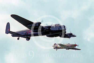 WB - Avro Lancaster 00020 Avro Lancaster British RAF markings with Hawker Hurricane British RAF markings by Peter J Mancus