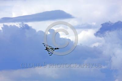 WB-Vulcan 00008 A flying Avro Vulcan British RAF Cold War era jet-powered delta wing strategic bomber XH558 warbird picture by Peter J  Mancus