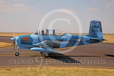WB - Beech T-34 Mentor 00001 Beech T-34 Mentor US Air Force trainer warbird by Peter J Mancus