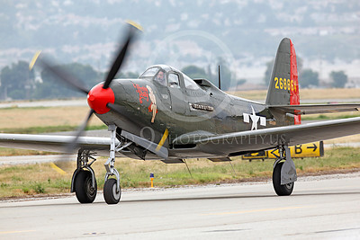 WB - Bell P-63 Kingcobra 00017 A Bell P-63 Kingcobra warbird, Pretty Polly, taxis after landing, by Peter J Mancus