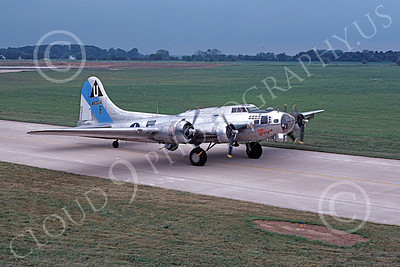 WB - B-17 00001 A taxing Boeing B-17G Flying Fortress 8-1981 warbird airplane picture by Ronald McNeil