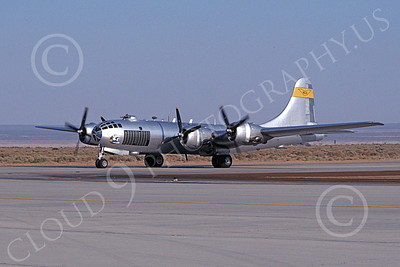 WB - B-29 00005 A taxing Boeing B-29 Super Fortress Edwards AFB 10-1980 military airplane picture by Ronald McNeil