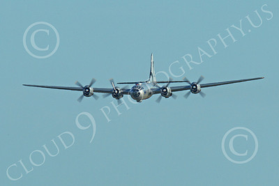 WB - B-29 00016 An in-flight quarter front view of Fifi, a World War II era US Army Air Force Boeing B-29 Superfortress warbird, airplane picture, by Peter J Mancus
