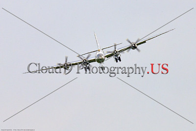"""WB-B-29 0078 A head-on view of Boeing B-29 Superfortress warbird """"DOC"""" landing at the 2018 Thunder Over Michigan airshow, by Peter J  Mancus     851_2054     DWT"""