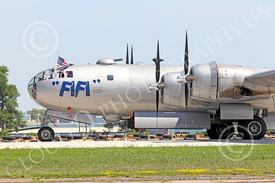 WB - B-29 00015 Close up of Fifi's nose, a World War II era US Army Air Force Boeing B-29 Superfortress warbird, airplane picture, by Peter J Mancus