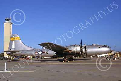 WB - B-29 00003 A static Boeing B-29 Super Fortress NCA N91329 Travis AFB 11-1979 military airplane picture by Peter B Lewis