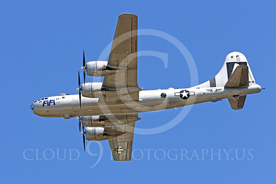 WB - B-29 00020 A side profile in-flight picture of Fifi, a World War II era US Army Air Force Boeing B-29 Superfortress warbird, by Peter J Mancus