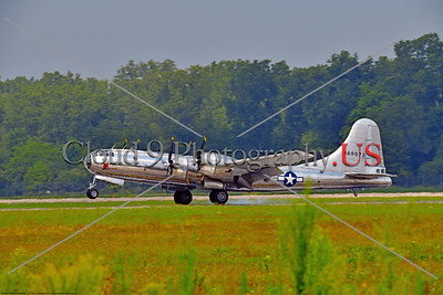 """WB-B-29 0065 Boeing B-29 Superfortress US Army Air Corps WWII strategic bomber warbird """"DOC"""" 469972 landing at 2018 Thunder Over Michigan airshow, by Peter J  Mancus    851_2102     DWT"""