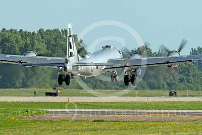 WB - B-29 00018 Fifi, a World War II era US Army Air Force Boeing B-29 Superfortress warbird, takes off at the Oshkosh 2011 airshow, airplane picture, by Peter J Mancus