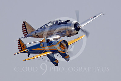 WB - Boeing P-26 Peashooter 00018 Boeing P-12 Peashooter with Republic AT-12 Guardsman by Peter J Mancus