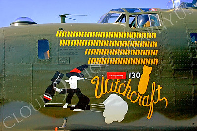 NA 00040 Nose art on Consolidated B-24 Liberator -- Witchcraft, by Peter J Mancus