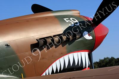 SM 00101 Curtiss P-40 Warhawk Flying Tiger by Peter J Mancus