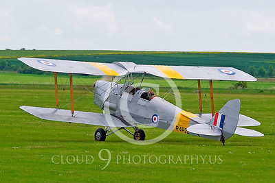 WB-de Havilland DH 82 Tiger Mouth 00001 British Royal Air Force by Tony Fairey