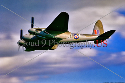 WB-de Havilland Mosquito 022 A flying warbird de Havilland WWII era British RAF Mosquito multi role aircraft, 5-1970, Yeoovilton, warbird airplane picture by Stephen W  D  Wolf     853_9210     Dt