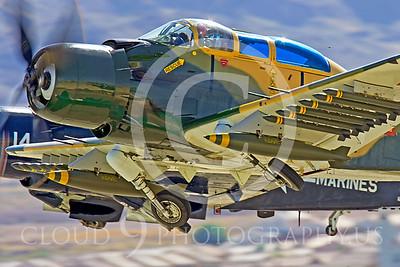 WB-A-1 00010 Douglas A-1 Skyraider by Peter J Mancus