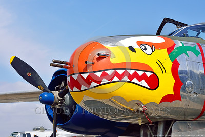 SM-A-26 001 A colorful static sharkmouth Douglas A-26 Invader warbird picture by Peter J  Mancus