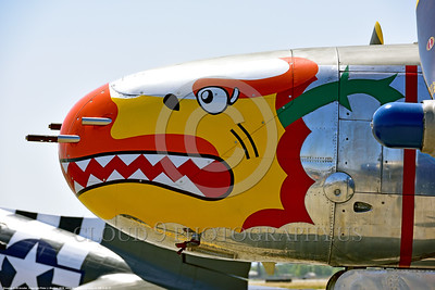SM-A-26 017 A close up of the colorful nose of a sharkmouth Douglas A-26 Invader warbird picture by Peter J  Mancus