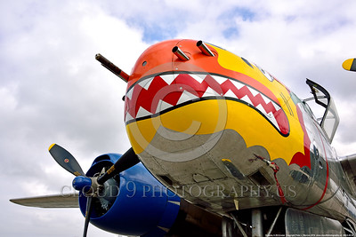 SM-A-26 008 A close up of the colorful nose of a sharkmouth Douglas A-26 Invader warbird picture by Peter J  Mancus