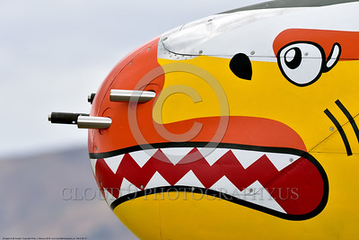 SM-A-26 010 A close up of the colorful nose of a sharkmouth Douglas A-26 Invader warbird picture by Peter J  Mancus