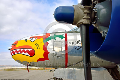 SM-A-26 009 A close up of the colorful nose of a sharkmouth Douglas A-26 Invader warbird picture by Peter J  Mancus