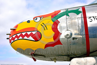 SM-A-26 012 A close up of the colorful nose of a sharkmouth Douglas A-26 Invader warbird picture by Peter J  Mancus