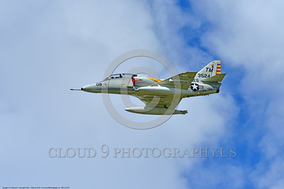 WB-A-4 0010 A flying Douglas TA-4F Skyhawk US Cold War era sub-sonic attack jet trainer in USMC markings warbird at Thunder Over Michigan 2016 airshow warbird picture by Peter J  Mancus