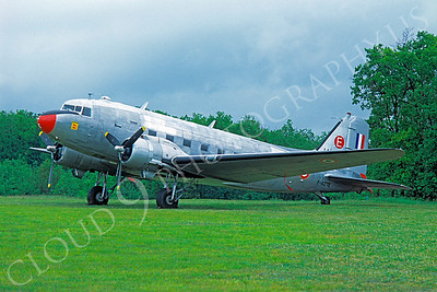 WB - 00001 Douglas C-47 Sky Train French Air Force by Stephen W D Wolf
