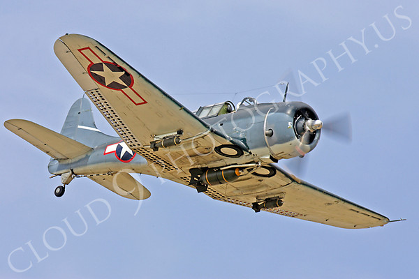 WB - Douglas SBD Dauntless 00016 Douglas SBD Dauntless US Navy World War II dive bomber warbird by Peter J Mancus