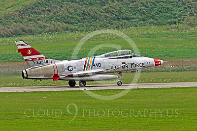 WB - F-100 00035 A North American F-100F Super Sabre USAF jet fighter, FW-948 63948, warbird taxis for take-off, by Peter J Mancus