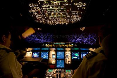St Elmo's fire over Borneo in Airbus A320