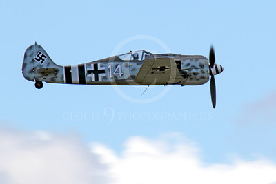WB - Focke-Wulf Fw 190 00036 Side view of a flying German Focke-Wulf Fw 190 WWII era fighter, airplane picture, by Peter J Mancus