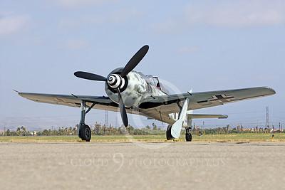 WB - Focke-Wulf Fw 190 00037 A static Focke-Wulf Fw 190 German WWII era fighter airplane picture, by Peter J Mancus