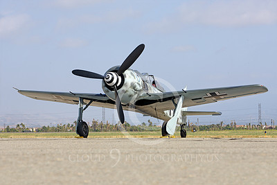 WB - Focke-Wulf Fw 190 00037 A static Focke-Wulf Fw 190 German WWII era fighter airplane picture, by Peter J Mancus