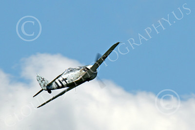 WB - Focke-Wulf Fw 190 00042 A flying German Focke-Wulf Fw 190 WWII era fighter warbird airplane picture by Peter J Mancus