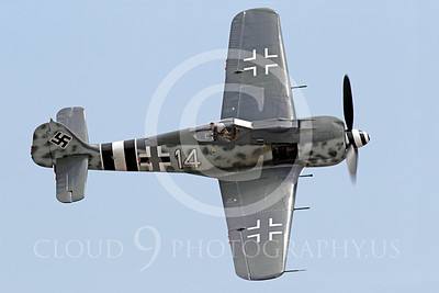 WB - Focke-Wulf Fw 190 00014 A nice top view of a turning Focke-Wulf Fw 190 German WWII era fighter warbird airplane picture, by Peter J Mancus