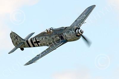 WB - Focke-Wulf Fw 190 00056 A flying Focke-Wulf Fw 190 German WWII era fighter warbird airplane picture, by Peter J Mancus