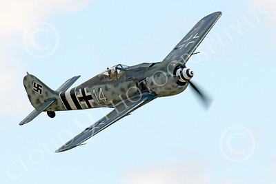 WB - Focke-Wulf Fw 190 00056 A flying Focke-Wulf Fw 190 German WWII era fighter warbird airplane picture, by Peter J Mancus