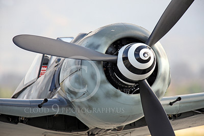WB - Focke-Wulf Fw 190 00055 Close up of the prop spinner on a static Focke-Wulf Fw 190 German WWII era fighter airplane picture, by Peter J Mancus